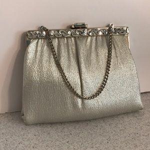 Vintage MCM silver metallic evening bag purse
